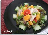 サラダチキンでおもてなし♪チキンとオレンジのサラダ仕立て - aiai @cafe