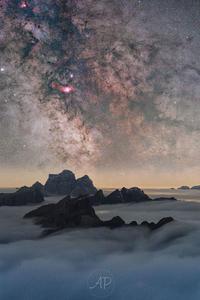 世界自然遺産ドロミテから撮影した美しい満天の星空 - 秘密の世界        [The Secret World]