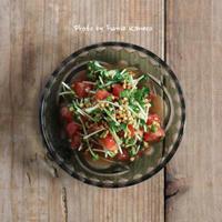 サクサク新食感 蕎麦の実とトマトのポン酢和え - ふみえ食堂  - a table to be full of happiness -
