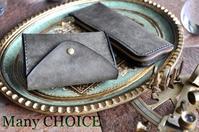 セミオーダー・イタリアンレザー・プエブロ・2つ折りコインキャッチャー財布とL型ペンケース - 時を刻む革小物 Many CHOICE~ 使い手と共に生きるタンニン鞣しの革