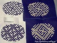 細切れ時間で刺繍を進める - ロシアから白樺細工