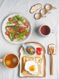 目玉焼きトーストの朝ごはん - 陶器通販・益子焼 雑貨手作り陶器のサイトショップ 木のねのブログ