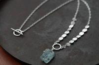 アクアマリン ネックレス - 石と銀の装身具