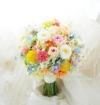 プリザーブドフラワーブーケ、ホテル日航アリビラ様へ、そしてはじめての動画貼り付け - 一会 ウエディングの花