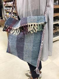 色々な古布から織り上がったバッグやポーチ@みんなの作品 - 手染めと糸のワークショップ
