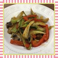 セロリ・パプリカ・マッシュルームのオイスターソース炒め(レシピ付) - kajuの■今日のお料理・簡単レシピ■