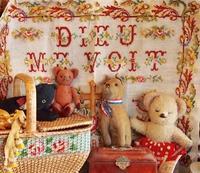 パリの蚤の市からジャンボリーへ*古いサンプラー&キュートなぬいぐるみいろいろ - BLEU CURACAO FRANCE