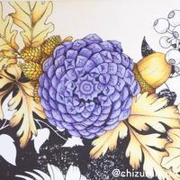 花と動物を彩るコラージュぬりえ森のなかへちづるさん連載 - オトナのぬりえ『ひみつの花園』オフィシャル・ブログ