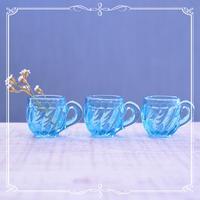 ◆フランスアンティーク*ぽってり可愛いブルーのミニマグ三姉妹♪ - フランス雑貨とデコパージュ&ギフトラッピング教室 『meli-melo鎌倉』