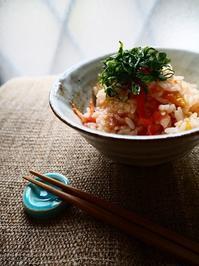 丸ごとトマトと梅干の炊き込みご飯 - Kitchen diary