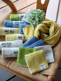 涼しさを感じる色と質感〜MOKUシリーズのタオル〜 - CROSSE 便り
