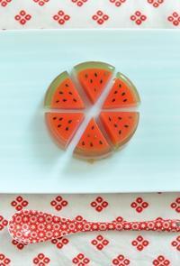 スイカの日のスイカ寒天  Homemade Watermelon Agar Sweets - お茶の時間にしましょうか-キャロ&ローラのちいさなまいにち- Caroline & Laura's tea break