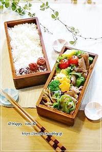 豚肉ピーマンの生姜焼き弁当と我が家の事情♪ - ☆Happy time☆