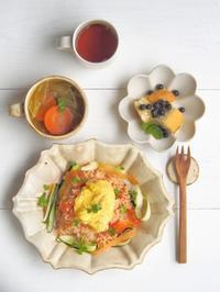トマト🍅ライスの朝ごはん - 陶器通販・益子焼 雑貨手作り陶器のサイトショップ 木のねのブログ