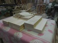 食器棚・カップボードの抽斗加工 - 手作り家具工房の記録