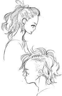 涼しい髪型ラフ 2 - 山田南平Blog