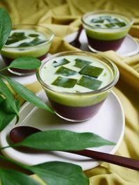 水ようかん&抹茶ゼリィ♪ - This is delicious !!