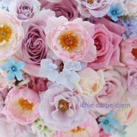 ラウンドブーケ ディズニーアンバサダーホテル様へ シーアネモネのパステルカラーミックスブーケ - 一会 ウエディングの花