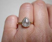 大粒のスペシャルダイヤモンドリング完成です。 - hiroe  jewelryつくり