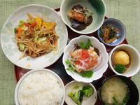 夏野菜と豚肉の生姜焼き★(^^♪・・・・・700円ランチ - 日だまりカフェ