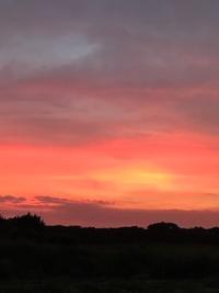 ある日の夕焼け - ドコカ遠くと日々のアシモト