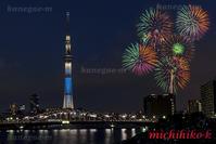 隅田川花火大会 - 風景写真家 鐘ヶ江道彦のフォトブログ