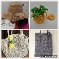 夏は涼しい素材で♪ - 空色テーブル  編み物レッスン