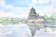 松本城を仰ぎ見る - ryuuの手習い