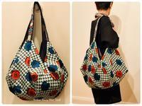 四角い生地を縫い合わせて簡単に作れるたっぷりバッグ - Sew Easy New York