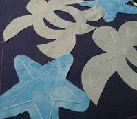 ホヌ、ヒトデ しつけ - ほっと一息・・~Sakura's Hawaiian QuiltⅡ