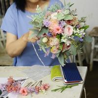 7月15日1DAYプリザーブドレッスンご報告次回8月5日・15日・9月16日、生花は8月8日昼増発 - 一会 ウエディングの花