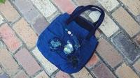 綿蚊帳を使ってトートバッグ - 古布や麻の葉