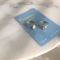 ペアシェイプカットのリング - Fmizushina Accessories 日々のアクセサリーダイアリー