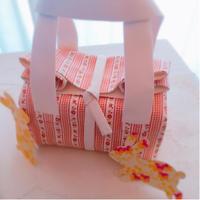 縫わないバッグ ランチバッグ - La fraise blanche ~カルトナージュ&ハンドメイド~