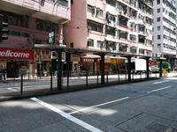 トラム西行@新成街→書局街 - 香港貧乏旅日記 時々レスリー・チャン