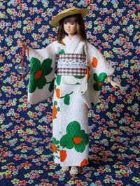 レトロな緑の花柄浴衣 -  Der Liebling ~蚤の市フリークの雑貨手帖2冊目~