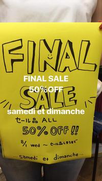 FINAL SALE 始まりました~ - 浜松のセレクトショップ サムディ & ディマンシュ SUMMER SALE!!