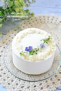 桃のミニデコレーションケーキ - *sheipann cafe*