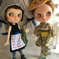 浴衣&夏ワンピセットをヤフオクに出品しました。 - *mllehana*のアトリエにようこそ♪