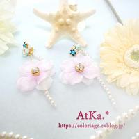 【Mermade flower 2way pierce】 - Atelier kacche
