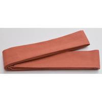 9057回 凧人オリジナル綿紬 袢纏帯 薄紅 - 今日の凧人