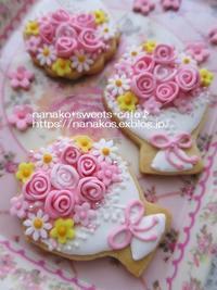 ブーケのアイシングクッキー * バレエ発表会 - nanako*sweets-cafe♪