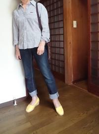 8月5日、70代。黄色い靴と手作りキャスケットでコーディネートをする - 楽しく元気に暮らします