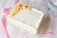 桃のショートケーキ - 「jardin de l'abbaye 」お菓子ブログ