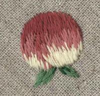 桃の刺繍をしました。 - vogelhaus note
