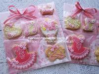 アイシングクッキー発表会用 * 朝顔 - nanako*sweets-cafe♪