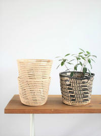 Hand Woven Palm Basket - 『Bumpkins putting on airs』