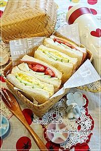 山食でサンドイッチ弁当と今夜はカニ玉♪ - ☆Happy time☆