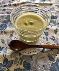 枝豆の冷製スープto英国土産いっぱい♡ - パンのちケーキ時々わんこ