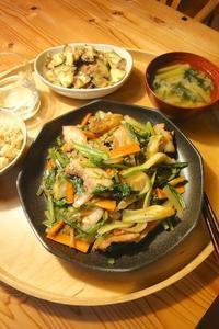 肉野菜炒め - 週末は晴れても、雨でも